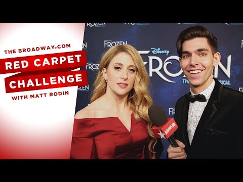 RED CARPET CHALLENGE: FROZEN with Caissie Levy, Patti Murin and more!