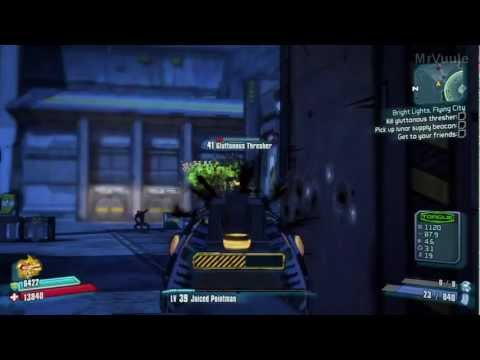 Borderlands 2 - How to Easily Kill Gluttonous Thresher (Without getting hit!)