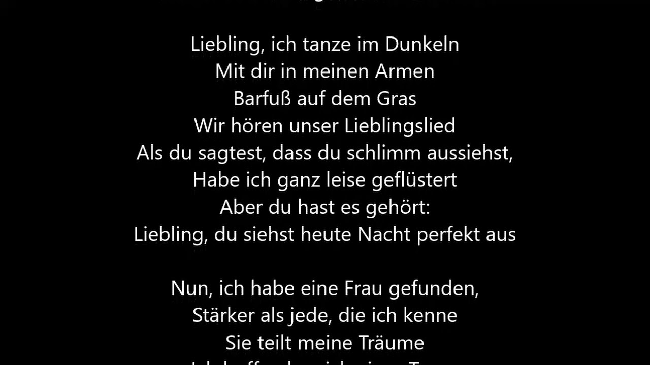 perfect lyrics deutsch