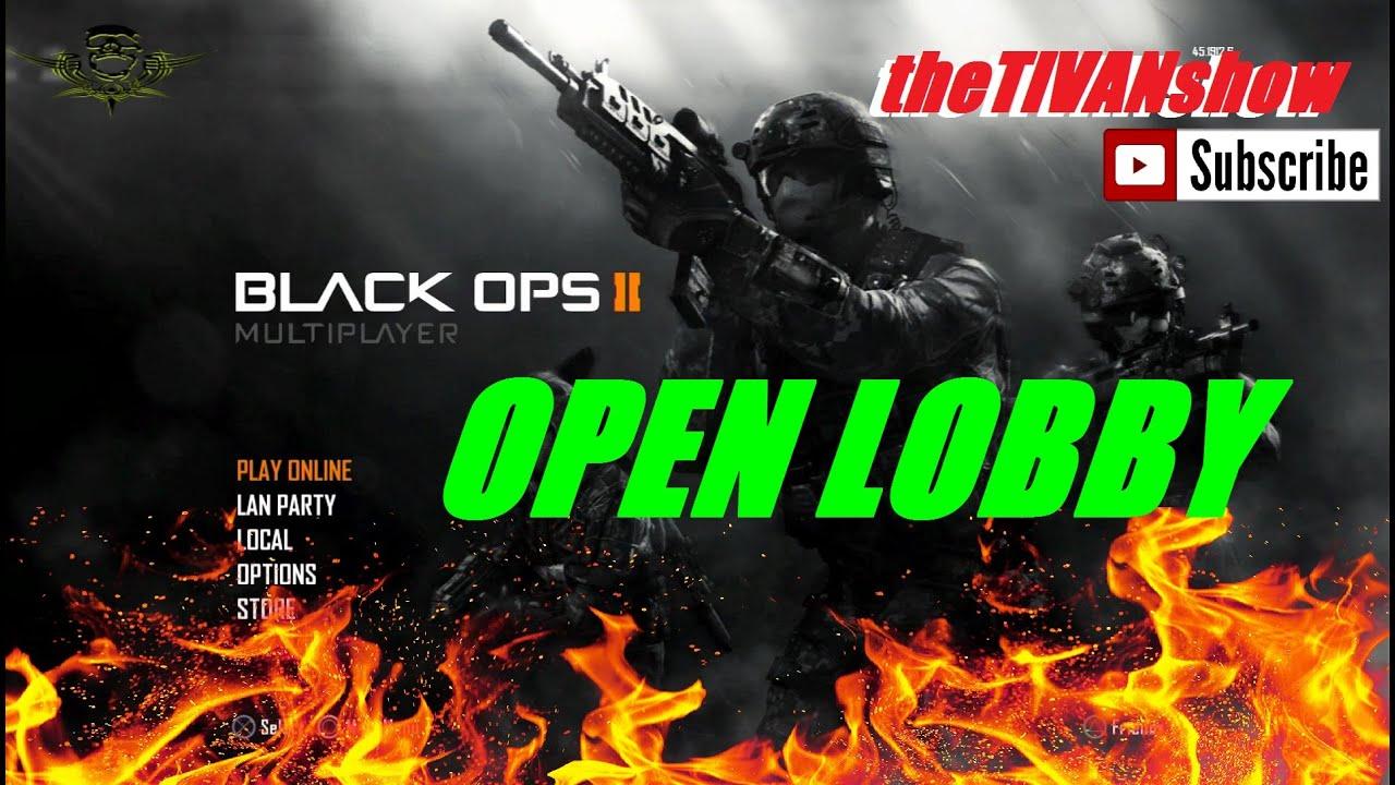 CALL OF DUTY : BO2 - OPEN LOBBY - LETS PLAY - PS3 - CUSTOM GAMES