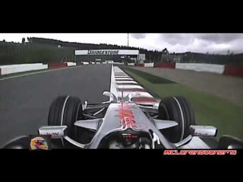 Lewis Hamilton Onboard Pole Position Lap - Spa 2008