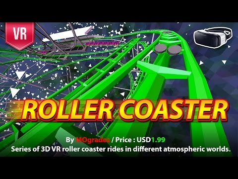 Roller Coaster Gear VR Series of VR Roller Coaster in 4 atmospheric worlds with speed & beauty
