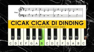 CICAK CICAK DI DINDING. LAGU ANAK BALITA INDONESIA POPULER.PIANO TUTOTIAL.