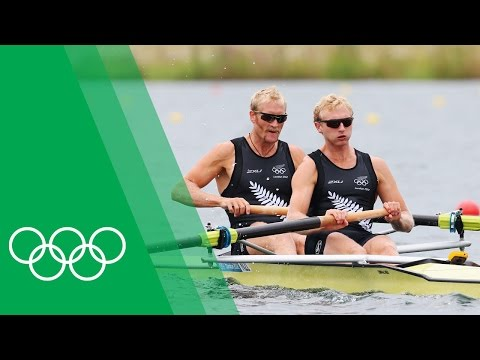 Eric Murray & Hamish Bond [NZL] on winning Coxless Pairs gold
