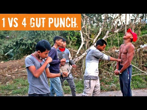 1 VS 4 GUT PUNCH - HARD GUT PUNCH || ANISH FITNESS ||