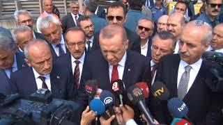 Cumhurbaşkanı Erdoğan, Ordu Ünye'de İncelemelerde Bulundu