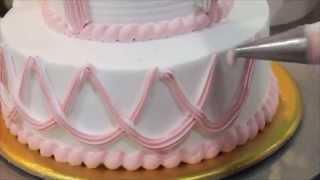 Cream Cake icing and Decoration (생크림 케이크 만들기 & 데코레이션) 生クリームのケーキを作る