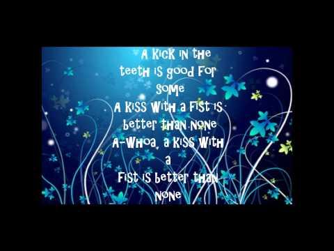 Florence + the Machine - Kiss With A Fist Lyrics(HQ)
