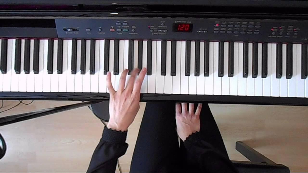 C Minor Natural Scale - Left Hand - PIano tutorial