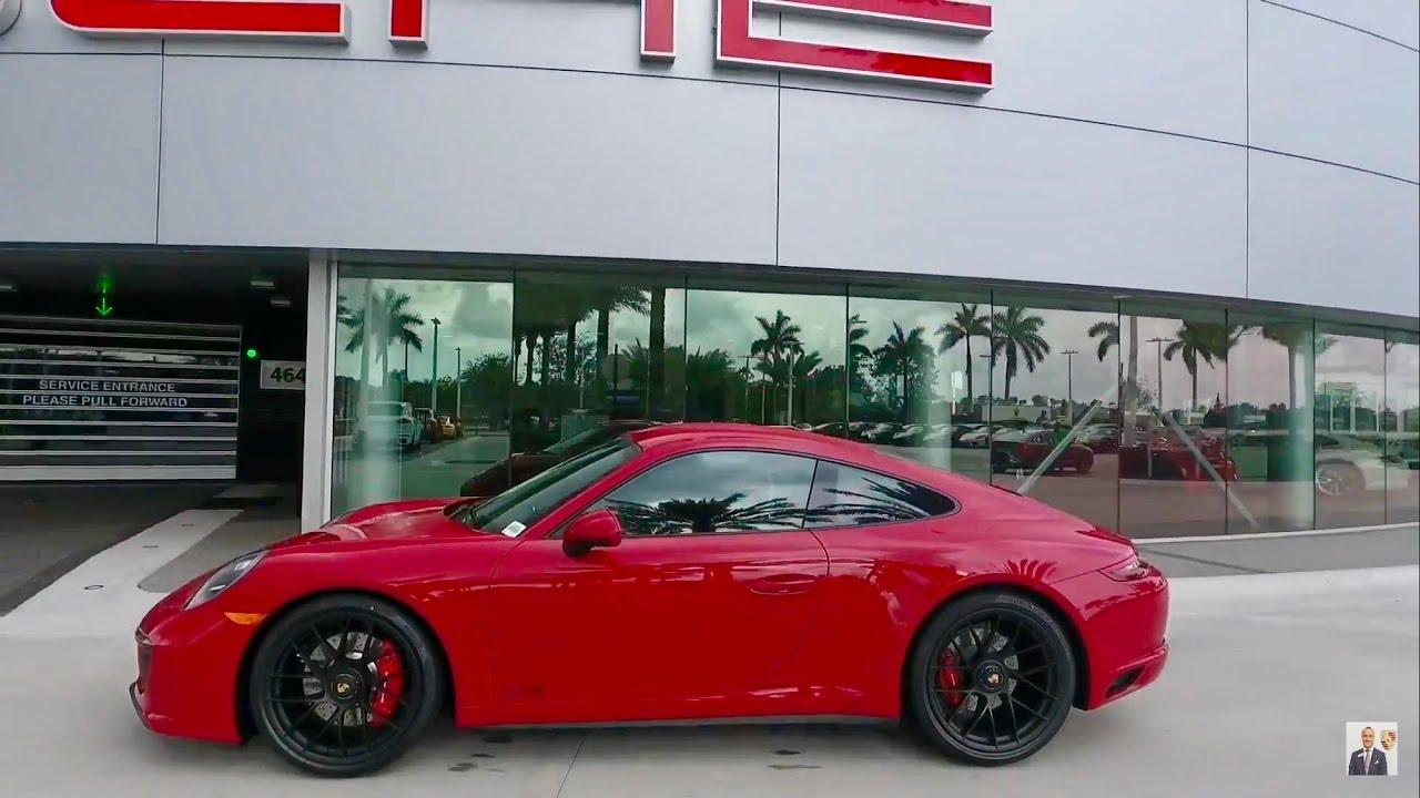 2017 Carmine Red Porsche 911 Carrera 4 Gts West Broward