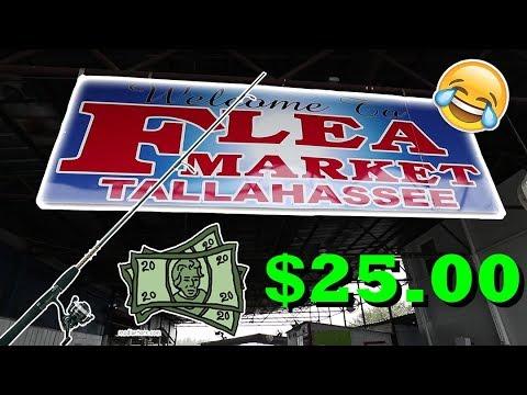 25 flea market fishing challenge youtube for Fishing flea market near me