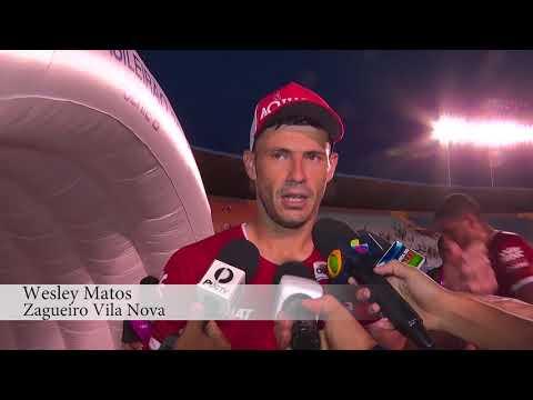 Jogadores do Vila Nova comentam estreia do time no Brasileirão contra o Avaí