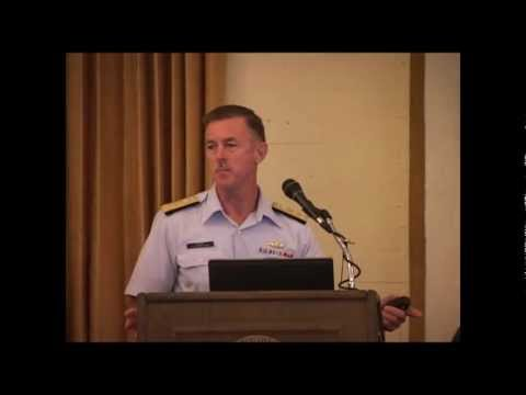 Vice Admiral Paul Zukunft speaking at the Maritime Risk Symposium