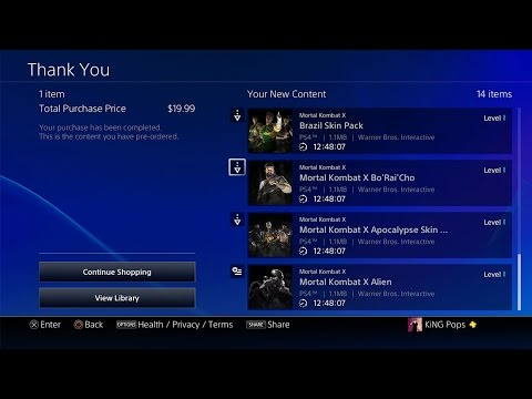 Mortal Kombat X: HOW TO DOWNLOAD KOMBAT PACK 2! - MKXL SCORPION PS4 THEME OVERVIEW