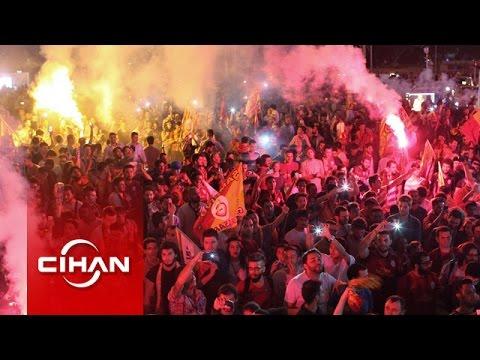 Florya ve Taksim'de Galatasaray coşkusu!