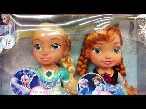 2016 Disney Frozen Singing Sisters Light Up Elsa and Anna Dolls Musical Lights Elsa Toys