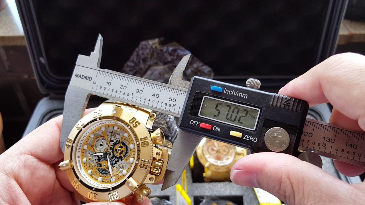 90c48b28393 Relógio invicta subaqua 18528 cronógrafo suíço pulseira preta original só  na ALTARELOJOARIA