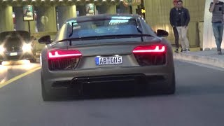 Audi R8 V10 Plus with Capristo exhaust - LOUD REVS And Accelerations in Monaco
