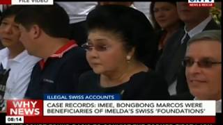 Case Records: Imee, Bongbong Marcos were beneficiaries of Imelda's Swiss 'foundations'
