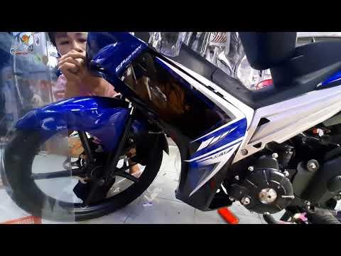 Dán Xe Exciter | Dán Keo Trong Xe Exciter 2010 Màu Xanh GP Bóng Đẹp