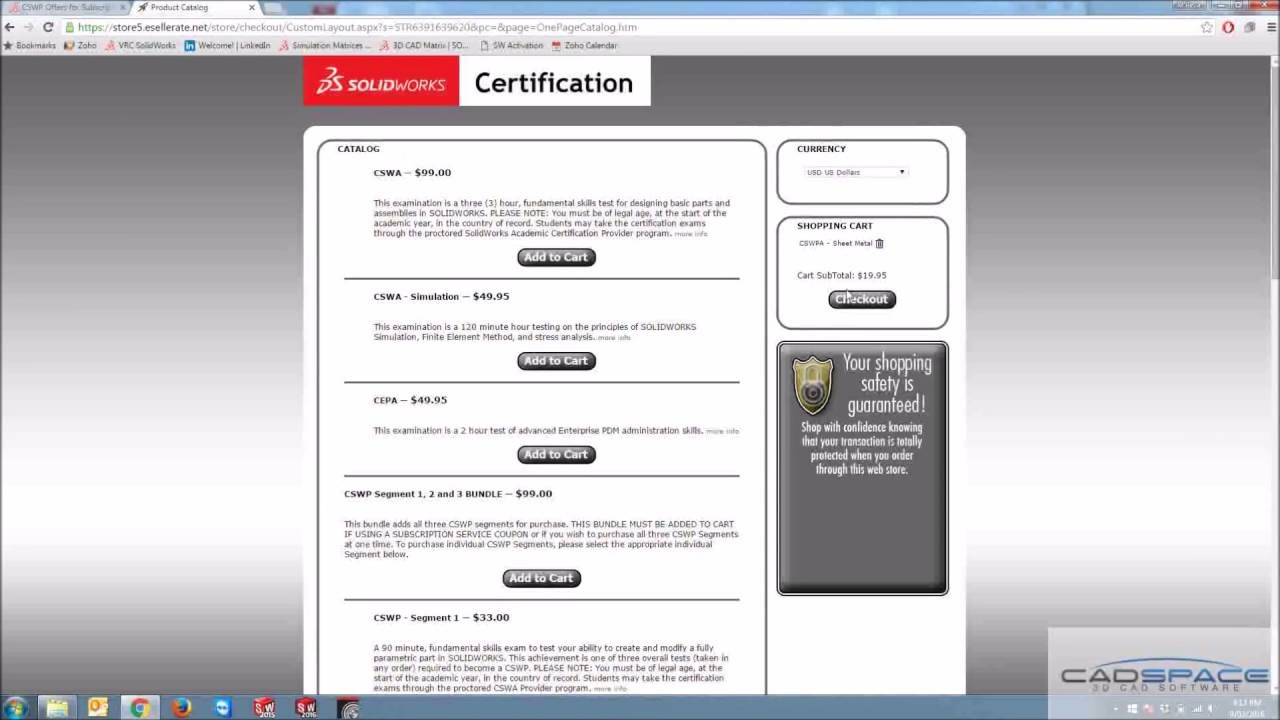 Redeeming Free Solidworks Certifications