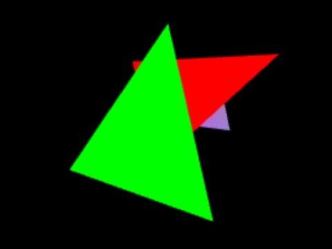3d WebGL Perspective Projection Matrix ProgrammingTIL #115 WebGL tutorial video screencast 0058 by David Parker