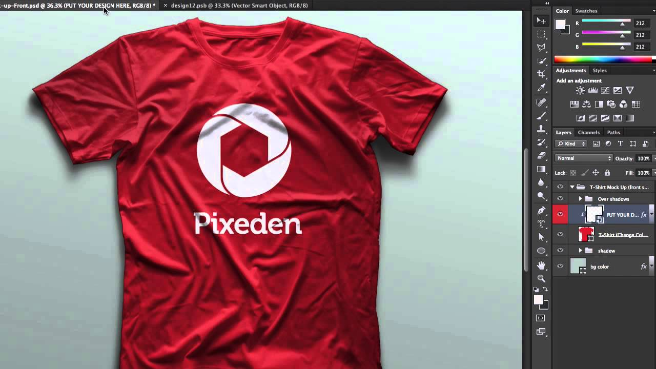 Download Psd Tshirt Mockup Template Vol2 - Tutorial - PIXEDEN - YouTube
