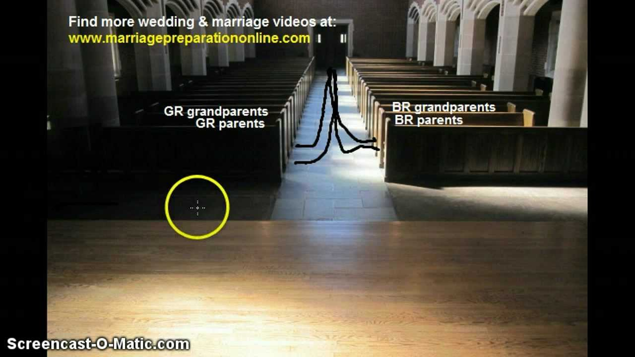 Simple Guide to the Traditional Wedding Processional Order - YouTube