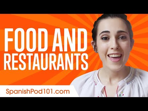 Learn Spanish In 20 Minutes - ALL Food And Restaurants Phrases You Need