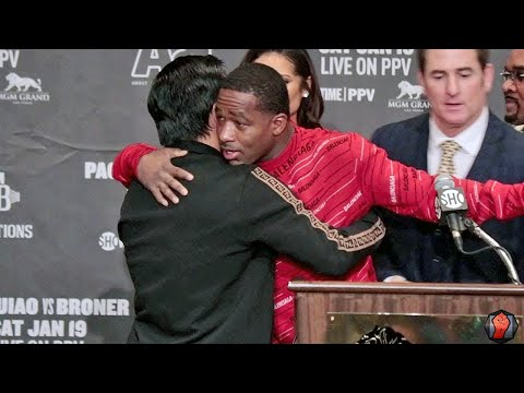 PACQUIAO & BRONER SHOW LOVE & RESPECT AFTER THE FIGHT, HUG IT OUT