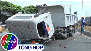 THVL | Va chạm giữa xe ben và xe container, 3 người may mắn thoát chết