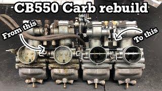 How To rebuild Hoฑda Keihin CB350 CB400 CB500 CB550 Carbs (Step by step)