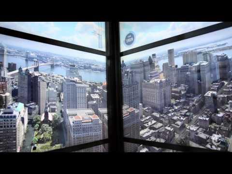 En el nuevo elevador del World Trade Center se proyectan animaciones en 3D