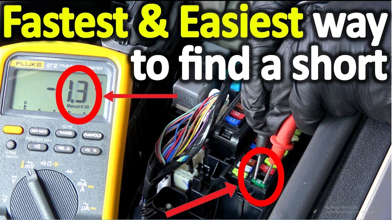 How To Find A Short In Modern Car Fast And Easy The Correct Way Battery Voltage Meter Wiring Diagram For