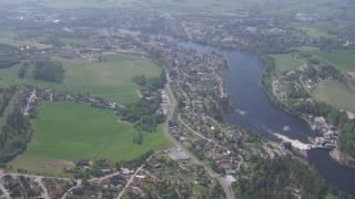 Vikersund, Åmodt, Skotselv, Hokksund, Drammenselva, Vestfossen - Flying Over Norway