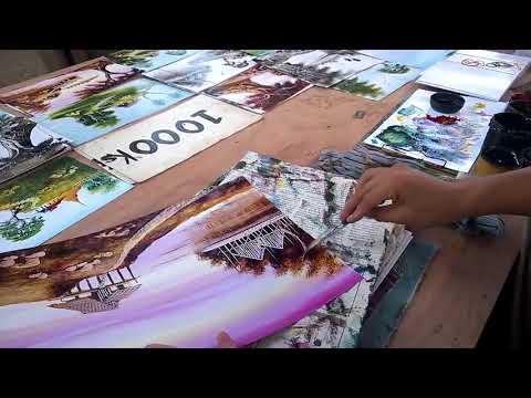 Street Artist Quickly Paints Beautiful Landscape – 984976