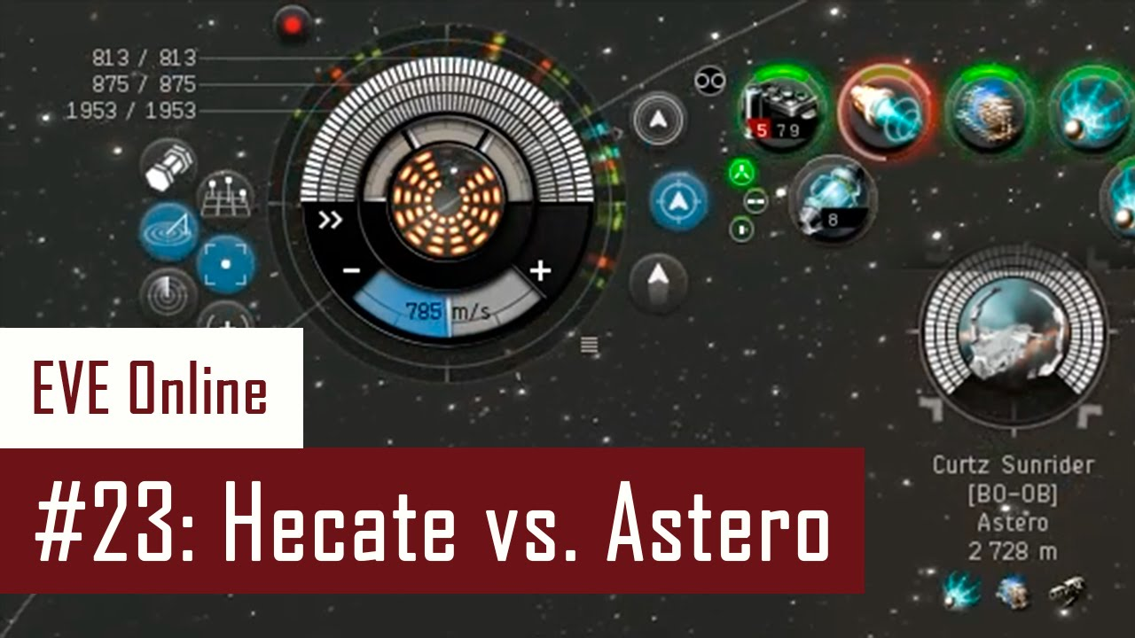 Lenai's Solo PvP #23: Hecate vs  Astero, combat scan story   EVE Online