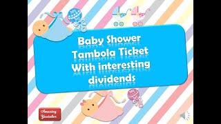 Baby Shower Tambola Ticket | New Theme Idea For Ladies Kitty Party | Family Get Together Games