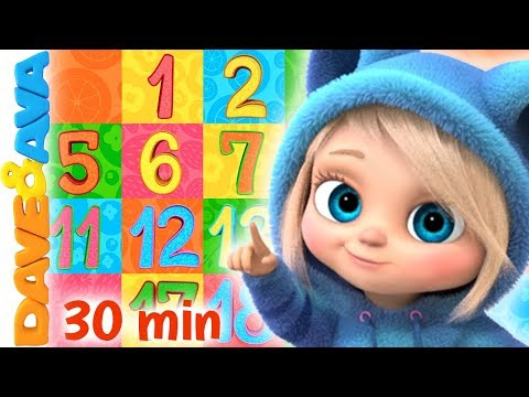🚂 ABC's, Numbers And Counting   Baby Songs By Dave And Ava 🚂