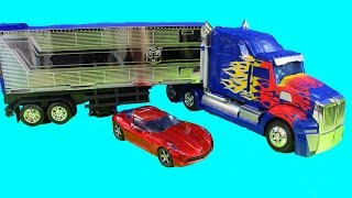 Transformers Platinum Edition Optimus Prime With Trailer & Sideswipe Robot
