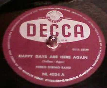 Chords for Ferko string band - Happy days are here again