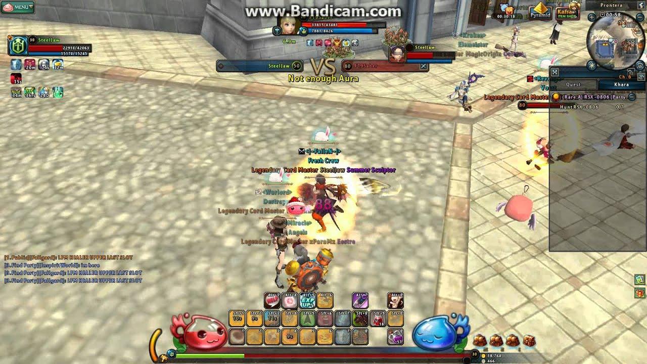 ragnarok online 2 pvp knight vs warrior ii youtube