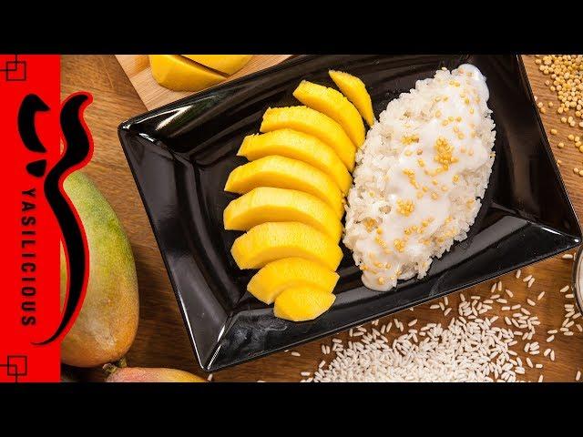KLEBREIS mit MANGO / MANGO STICKY RICE - Klebreis zubereiten - asiatische Süßspeise / Dessert