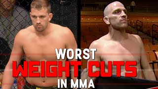 Worst Weight Cuts In MMA