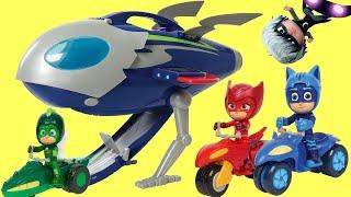PJ Masks Super Moon Adventure HQ Rocket Playset with Gekko, Owlette & Catboy