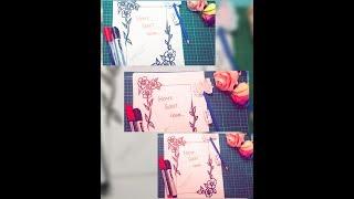 Flower Border Design on Paper | Border Design | Easy Border Design