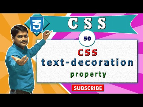 CSS video tutorial - 50 - CSS text decoration vs  (html a tag)