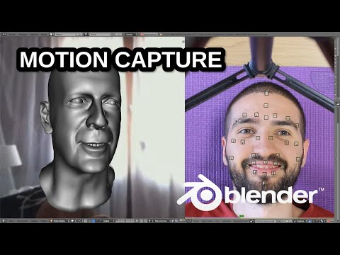 Blender motion capture test (Bruce Willis)