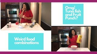 Trying Adrienne Houghton's Weird Food Combinations I All things Adrienne I Celebrity Test Kitchen
