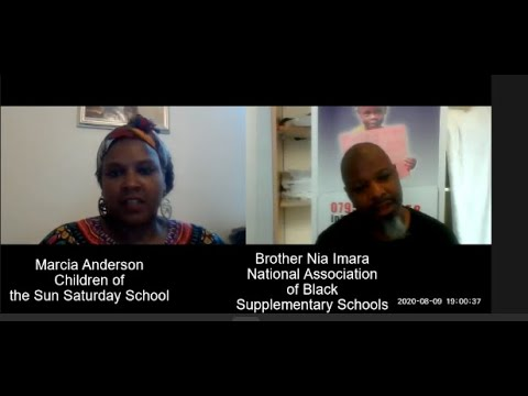 NABSS TV Interview with Marcia Anderson from The Children of the Sun Saturday School 09 08 2020